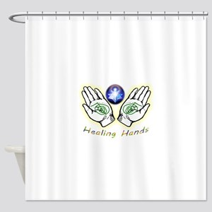 Healing hands Shower Curtain